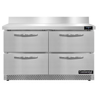 Continental Refrigerator SWF48NBS-FB-D 48 inch Front Breathing Worktop Freezer with Four Drawers - 13.4 Cu. Ft.