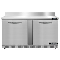 Continental Refrigerator SWF60NBS-FB 60 inch Front Breathing Worktop Freezer - 17 Cu. Ft.