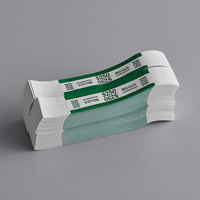 MMF Industries 1160503-E35 Green $250 Self-Adhesive Currency Strap - 1000/Box