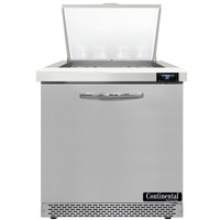 Continental Refrigerator SW32-N-12M-FB 32 inch 1 Door Mighty Top Front Breathing Refrigerated Sandwich Prep Table