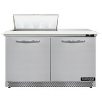 Continental Refrigerator SW48-N-8C-FB 48 inch 2 Door Cutting Top Front Breathing Refrigerated Sandwich Prep Table