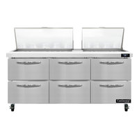 Continental Refrigerator SW72-N-27M-D 72 inch 6 Drawer Mighty Top Refrigerated Sandwich Prep Table