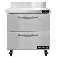 Continental Refrigerator SWF32NBS-D 32 inch Worktop Freezer with Two Drawers and Backsplash