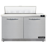 Continental Refrigerator SW48-N-10-FB 48 inch 2 Door Front Breathing Refrigerated Sandwich Prep Table
