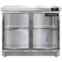 Continental Refrigerator SW36-N-GD-FB 36 inch Front Breathing Undercounter Refrigerator with Glass Doors