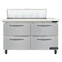 Continental Refrigerator SW48-N-10C-D 48 inch 4 Drawer Cutting Top Refrigerated Sandwich Prep Table