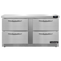Continental Refrigerator SWF60N-FB-D 60 inch Undercounter Freezer with Four Drawers
