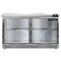 Continental Refrigerator SW48-N-GD-FB 48 inch Glass Door Front Breathing Undercounter Refrigerator