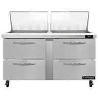 Continental Refrigerator SW60-N-24M-D 60 inch 4 Drawer Mighty Top Refrigerated Sandwich Prep Table