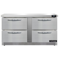 Continental Refrigerator SW60-N-FB-D 60 inch Front Breathing Undercounter Refrigerator with Four Drawers