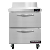 Continental Refrigerator SWF27NBS-D 27 inch Worktop Freezer with Two Drawers and Backsplash