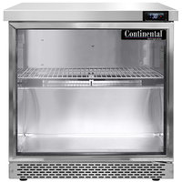 Continental Refrigerator SW32-N-GD-FB 32 inch Front Breathing Undercounter Refrigerator with Glass Door