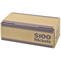 MMF Industries 240140508 Pack 'N Ship Blue Coin Box - $100, Nickels - 50/Case
