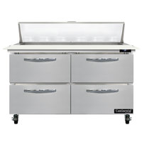 Continental Refrigerator SW48-N-12C-D 48 inch 4 Drawer Cutting Top Refrigerated Sandwich Prep Table