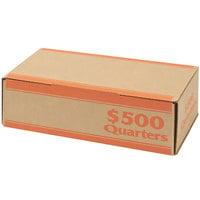 MMF Industries 240142516 Pack 'N Ship Orange Coin Box - $500, Quarters - 50/Case