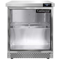 Continental Refrigerator SW27-N-GD-FB 27 inch Front Breathing Undercounter Refrigerator with Glass Door
