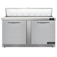 Continental Refrigerator SW60-N-16-FB 60 inch 2 Door Front Breathing Refrigerated Sandwich Prep Table