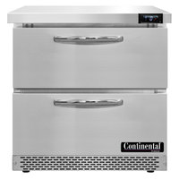Continental Refrigerator SWF32N-FB-D 32 inch Front Breathing Undercounter Freezer with Two Drawers