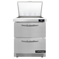 Continental Refrigerator SW27-N-12M-FB-D 27 inch 2 Drawer Mighty Top Front Breathing Refrigerated Sandwich Prep Table