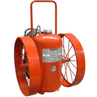 Buckeye 300 lb. ABC Fire Extinguisher - Rechargeable Untagged Pressure Transfer - UL Rating 30-A:320-B:C - Steel Wheels with Rubber Treads