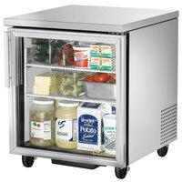 True TUC-27G-HC-LD 27 inch Glass Door Undercounter Refrigerator