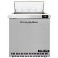 Continental Refrigerator SW32-N-8-FB 32 inch 1 Door Front Breathing Refrigerated Sandwich Prep Table