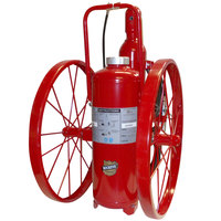 Buckeye 125 lb. Purple K Fire Extinguisher - Rechargeable Untagged Regulated Pressure - UL Rating 320-B:C - Steel Wheels