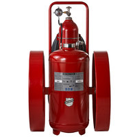 Buckeye 300 lb. ABC Fire Extinguisher - Rechargeable Untagged Regulated Pressure - UL Rating 30-A:320-B:C - Steel Wheels with Rubber Treads