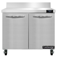 Continental Refrigerator SWF36NBS 36 inch Two Door Worktop Freezer with Backsplash