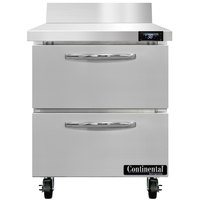 Continental Refrigerator SW27-N-BS-D 27 inch Worktop Refrigerator with Two Drawers