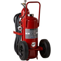 Buckeye 350 lb. Standard Dry Fire Extinguisher - Rechargeable Untagged Pressure Transfer - UL Rating 320-B:C - Steel Wheels with Rubber Treads