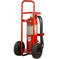 Buckeye 50 lb. ABC Dry Chemical Wheeled Fire Extinguisher - Rechargeable Untagged Stored Pressure - UL Rating 10-A:160-B:C - Rubber Wheels