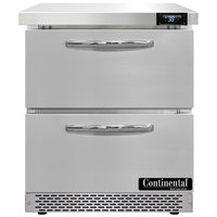 Continental Refrigerator SW27-N-FB-D 27 inch Front Breathing Undercounter Refrigerator with Two Drawers