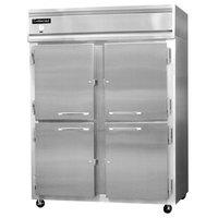 Continental Refrigerator 2RE-N-SS-HD 57 inch Half Door Extra Wide Reach-In Refrigerator