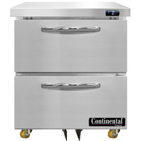 Continental Refrigerator SWF27N-U-D 27 inch Low Profile Undercounter Freezer with Two Drawers