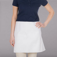 Choice White 4-Way Waist Apron - 17 inch x 36 inch