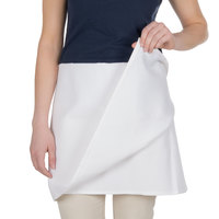 Choice White 4-Way Waist Apron - 34 inchL x 34 inchW