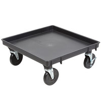 Vollrath 1697-06-LC2 Traex Recycled Black Rack Dolly Base (No Handle) - 21 inch x 21 inch