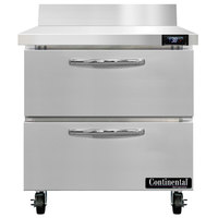 Continental Refrigerator SW32-N-BS-D 32 inch Worktop Refrigerator with Two Drawers
