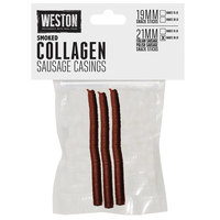 Weston 19-0141-W 21mm Smoked Collagen Sausage Casing - Makes 30 lb.