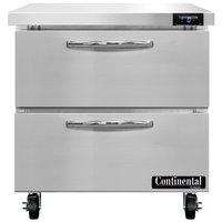 Continental Refrigerator SWF32N-D 32 inch Undercounter Freezer with Two Drawers