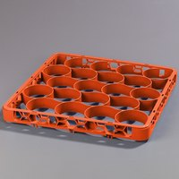Carlisle REW20SC24 OptiClean NeWave 20-Compartment Color-Coded Glass Rack Extender - Orange
