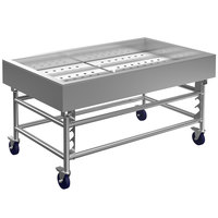 Winholt SSMIT-3660MLC 60 inch Stainless Steel Insulated Cold Food Display Table