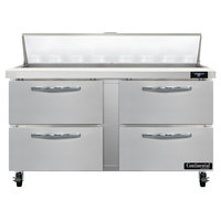 Continental Refrigerator SW60-N-16-D 60 inch 4 Drawer Refrigerated Sandwich Prep Table