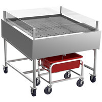 Winholt SSMIT4848-MLC/SNG 48 inch Stainless Steel Insulated Cold Food Display Table with Pan
