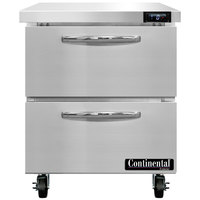 Continental Refrigerator SWF27N-D 27 inch Undercounter Freezer with Two Drawers