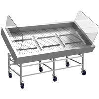 Winholt SSMIT-3672ADJ/DV/XB/SNG 72 inch Stainless Steel Insulated Cold Food Display Table with Bracing