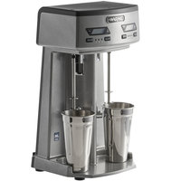 Waring WDM240TX Double Spindle Three Speed Drink Mixer with Timer - 120V, 750W