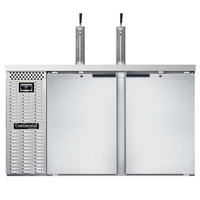 Continental Refrigerator KC59-N-SS Double Tap Kegerator Beer Dispenser - Stainless Steel, (3) 1/2 Keg Capacity