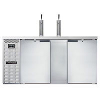 Continental Refrigerator KC69-N-SS Double Tap Kegerator Beer Dispenser - Stainless Steel, (3) 1/2 Keg Capacity